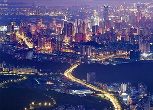 Night View of Pearl River Delta